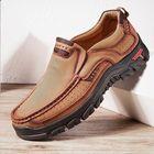 Meilleurs prix Men Genuine Leather Vintage Casual Business Office Soft Walking Loafers