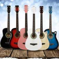 IRIN 38 Inch 6 String Acoustic Guitar with Guitar Bag for Beginners