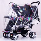 Recommandé Clear Stroller Rain Cover Weather Pram Baby Infant Double Pushchair Wind Shield Raincoat