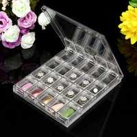 20pcs Detachable Clear Plastic Acrylic Nail Art Box Case Portable Storage Parts Container Cosmetic