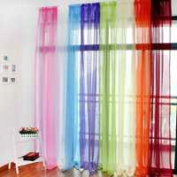 Translucent Sheer Tulle Voile Organdy Curtain Drape Wedding Decor for Door Window Vestibule Room