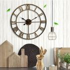 Meilleur prix Loskii Creative Wall Clock Living Room Round Hollow Out Cafe Bar Wrought Metal Vintage Wall Clock