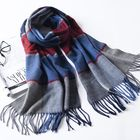 Recommandé LYZA 190CM Women Autumn Warm Plaid Scarf Long Tassel Scarf Scarves Shawl