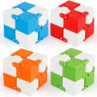 Z5 Plastic Cube Anxiety Stress Relief Fidget Focus Adults Kids Attention Therapy Toys