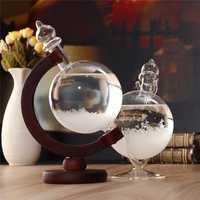 Christmas Gift Weather Forecast Crystal Bottle Globe Storm Home Desk Decor Wood Glass Base Novelties Toys