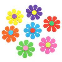 50Pcs Baby Kids Room Flower Foam Removable DIY Quote Decal Mural Crafts Wall Hallways Kindergarten Decoration