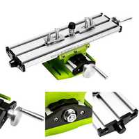 2 Axis Milling Compound Working Table Cross Sliding Bench Drill Vises Fixture DIY