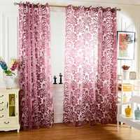 Honana WX-C7 Multiple Colors Semi-blackout Sheer Curtains Panel Window Blind Purple Curtains Home Decor