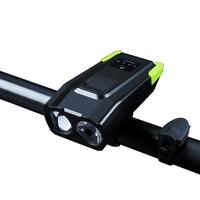 XANES SFL16 800LM 2T6 Smart Sensor Bike Headlight with 120db Horn Far Near Distance Large Floodlight Battery Indicator 2000mAh/4000mAh Lithium Battery USB Rechargeable Waterproof