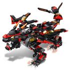 Meilleurs prix MoFun Black Battle Dragon DIY 2.4G 4CH RC Robot Block Building Infrared Control Assembled Robot Toy