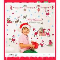 Christmas Santa Claus Wall Stickers Creative Decoration