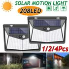 Bon prix 1/2/4X 208 LED Solar Power PIR Motion Sensor Wall Light Outdoor Garden Lamp Waterproof