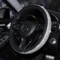 15 Inch 38cm Car Steering Wheel Covers Universal with Crystal Rhinestone