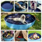 Recommandé 120x30cm Large Capacity Dog Pet Bathing Tub Bath Bucket Folding Basin Shower Room Kids Swimming Pool Tub