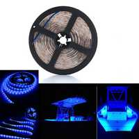 5M SMD3528 Flexible Blue 300 LED Strip Light Lamp Waterproof Home Car Decor DC12V