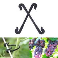 Garden Tool 100pcs Plastic Grapes Clips Vegetable Flower Plant Graft Clamp Grafting Vines Clipper