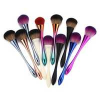Varied Colorful Face Makeup Brushes