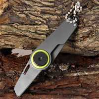 Multifunctional Portable Mini Folding Outdooors Camping Survival Steel Knife Key Chain Grey