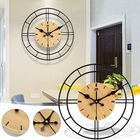 Offres Flash 30*30cm Clear Wide Large Wood Wall Clock For Bedroom Living Room Decoration