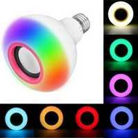 E27 12W SMD2835 RGB bluetooth Speaker Music Play LED Smart Light Bulb with Remote Control AC85-220V