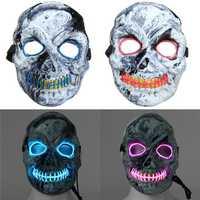 Novelties LED Skeleton Skull Mask Fancy Scary Halloween Adult Costume Accessory