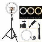 Acheter au meilleur prix Portable LED Ring Light Tripod Stand Live Selfie Holder USB Plug 10 Inch Fill Light for YouTube Tiktok VK Vlog Makeup