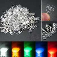 100pcs 2x5x7mm Rectangular Square LED Diodes Water Clear DIY Lighting