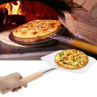 Aluminium Pizza Spatula Peel Shovel Cake Lifter Plate Holder BBQ Grill Oven Stove Baking Tool