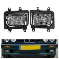 Pair Plastic Bumper Front Clear Fog Light Cover for BMW E30 318i 318is 325i 325is