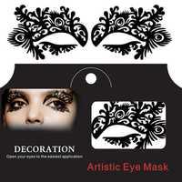 Bracken Face Tattoo Sticker Halloween Lace Squishy Fretwork Papercut Costume Party