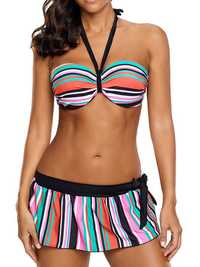 Sexy Halter Backless Multi Color Bikini Sets