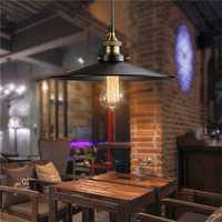 Retro Industrial Iron Vintage Hanging Pendant Lamp Retractable Ceiling Chandelier Lamp AC220V