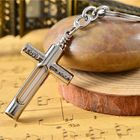 Les plus populaires Cross Metal Keychain With 15Years Self-Luminous 3x22.5mm Tritium
