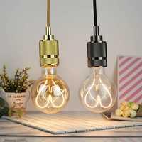 E27 4W G95 Dimmable Clear Gold Warm White Heart-Shaped Edison LED Light Bulb AC110-130V AC220-240V