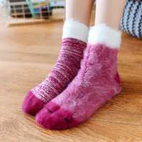 Women Warm Thickening Fleece Lining Anti-Slip Socks