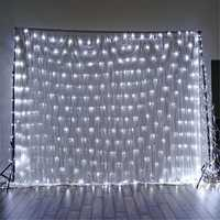 1.5x1.5m IP65 LED Curtain Fairy Holiday String Light Christmas Party Wedding Decor EU Plug AC220V