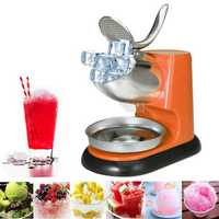 300W Commercial Electric Ice Crushing Machine Ice Crusher Shaver Snow Cone Orange Ice Maker