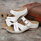 Recommandé Women Hollow Out Breathable Open Toe Casual Wedge Sandals