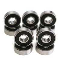 10pcs 8x22x7mm Deep Groove Miniature Bearing Seal Ring 608-2RS 608RS Deep Groove Ball Bearing