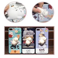 Bakeey™ Cartoon 3D Squishy Squeeze Slow Rising Soft Lazy Cat PC Case for iPhone 6 6s&6Plus 6sPlus