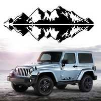 76x16cm Snow Mountain Car Stickers Vinyl Decal Auto Body Truck Tailgate Window Door Universal