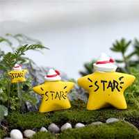 Micro Yellow Star Landscape Resin Potted Plant Microlandschaft Garden DIY Ornaments