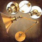 Meilleurs prix Vintage E27 Swing Arm Brass Wall Lamp Sconce Living Room Stair Restaurant Antique Light