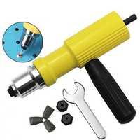Drillpro Electric Riveter Nut Gun Riveting Tool Metal Cordless Riveting Drill Adapter