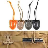 IPRee Elastic String Clip Molle Attaching Clamp Retaining Clip Money Clip-On Buckle Outdoor Camping Travel
