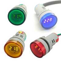 22mm AC 60V-450V LED Digital Voltmeter Indicator Lamp Voltage Gauge Monitor