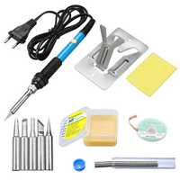 7 in 1 60W Electric Soldering Iron Welding Tools Kit Soldering Wire Tweezers Set 110V/220V