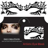 Talon Spider Web Halloween Eye Tattoo Sticker Squishy Lace Fretwork Papercut Masquerade