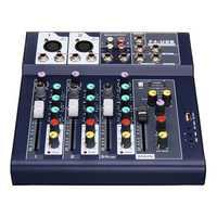4 Channel 48V bluetooth USB Sound Live Studio Audio Mixer Mixing Console Karaoke