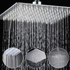 Meilleurs prix 8 Inch Stainless Steel Bathroom Square Silver Pressurize Rainfall Shower Head Chrome Finish